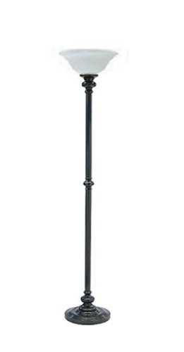 House Of Troy N600-OB-O Newport Collection Portable Floor Lamp, Oil Rubbed Bronze with Opal Glass Shade (Lamp Tall Table Collection Tiffany)