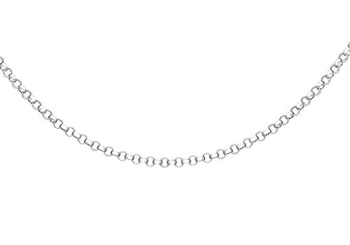 Or blanc 9ct Chaîne Belcher 46cm/18'