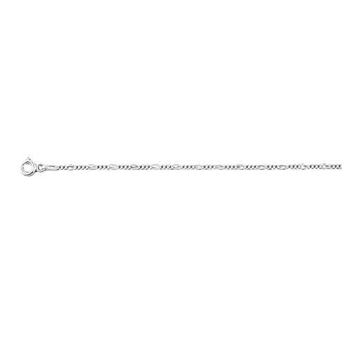 .925 Sterling Silver 1.0 MM Classic Figaro Italian Chain Necklace, 22''