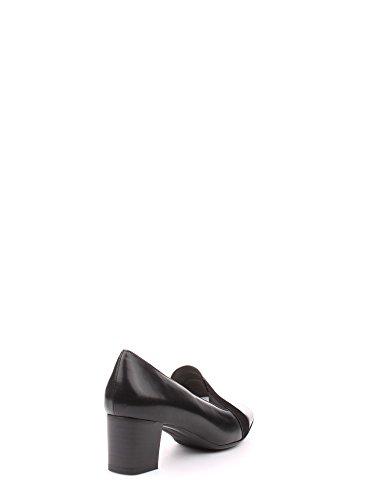 art femme chaussure X5463 col classique chausson en cuir noir