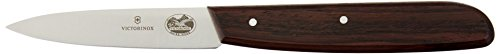 Victorinox 3.25 Inch Rosewood Paring Knife with Straight Edge, Spear Point, Large Handle