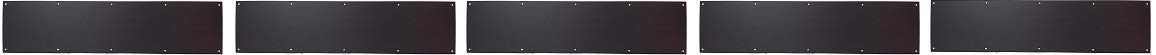 Don-Jo 90 Metal Kick Plate, Oil Rubbed Bronze Finish, 34'' Width x 6'' Height, 3/64'' Thick (5-(Pack))
