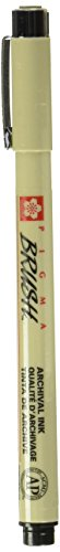 SAKURA COLOR PROD AMERICA Marker, Brush Tip, Water/Fade Proof, Black  (SAKXSDKBR49)
