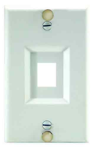 Legrand - On-Q WP3467SS Keystone Wall Phone Plate, Stainless Steel