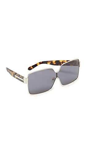 Karen Walker Women's Moonwalk Sunglasses, Gold/Smoke Mono, One - Walker Oversized Sunglasses Karen