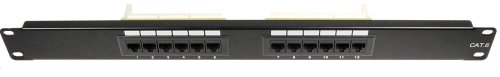 Cables Unlimited UTP-9012 12 Port Cat6 Patch Panel (9012 Panel)