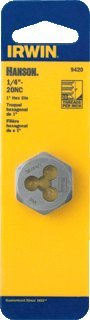 - Irwin Tools Hexagon Machine Screw Die, 1/2 inch- 20 NF-2Pack