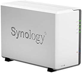 سينولوجي ديسك ستيشن، وحدة تخزين شبكية خالية من الاقراص، 2 حجرة، وحدة معالجة مركزية ثنائية النواة بسرعة 1.0 جيجاهرتز، ذاكرة وصول عشوائي 512 ميجا - DS216j