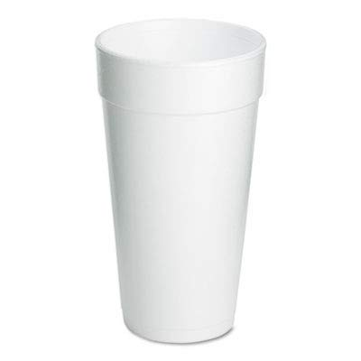 Dart 20J16 Foam Drink Cups, 20oz, 25 Per Pack (Case of 500)