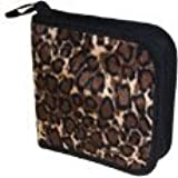 CD/DVD Wallet - Faux Leopard Fur Case Holds 24