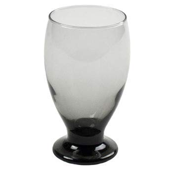 Stub Stem Water Glass Goblet 11.75 oz, Set of 4 (Smoke)