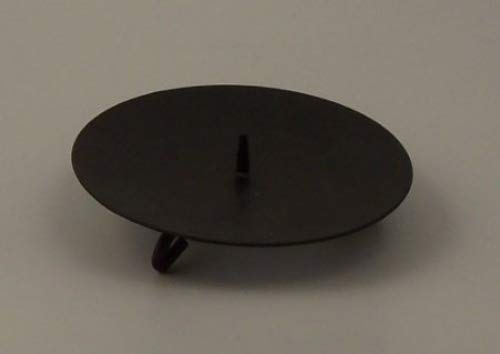 Black Spike Candle Plate - Set of 4