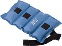 ANKLE WEIGHT CUFF, VINYL OUTER FABRIC,VELCRO CLOSURE, CONTAINS METAL PELLETS,BLUE, 20LBS by Fabrication