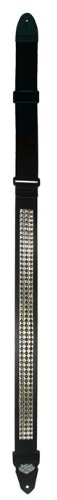 LM Products PS-201ST Studded Guitar Strap, Black