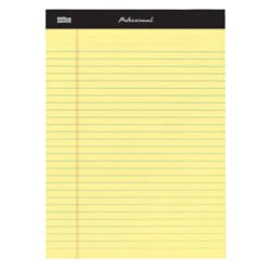 Office Depot Professional Legal Pad, 8 1/2in. x 11 3/4in., Legal Ruled, 100 Pages (50 Sheets), Canary, Pack Of 3, 99491