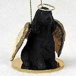 Cocker Spaniel English Black Pet Angel Ornament