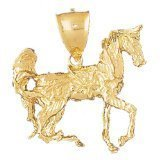 CleverEve 14K Yellow Gold Pendant 3-D Horse 17.5 Grams