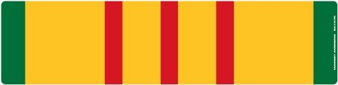 Vietnam War Service Ribbon Bar Magnet