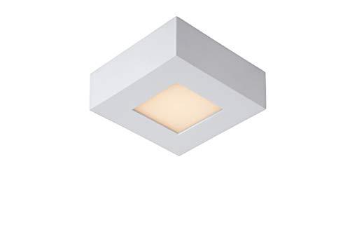 Lucide BRICE-LED – Plafonnière Badkamer – LED Dimb. – 1x8W 3000K – IP44 – Wit