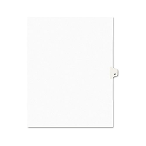 Avery Individual Legal Exhibit Dividers, Avery Style, 13, Side Tab, 8.5 x 11 inches, Pack of 25 (11923)