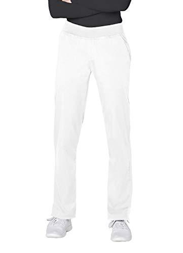 (Adar Pro Scrubs for Women - Tailored Yoga Scrub Pants - P7102 - White - S)