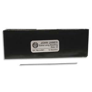 John James Pearl Stringing Needle Size 12 - 10 pack