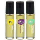 LAVENDER, LEMON, PEPPERMINT- 100% Essential Oil Blend - 3 pack10ml Roll-On Bottle - Zi essentials