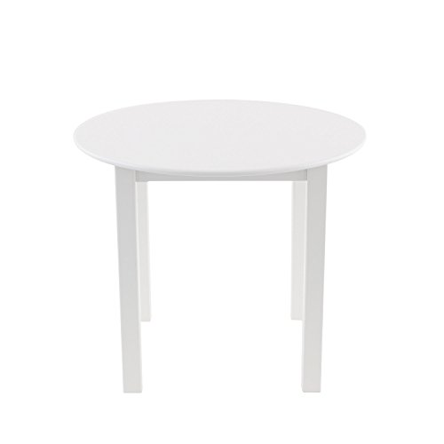 Max & Lily Natural Wood Kid and Toddler Round Table, White by Max & Lily (Image #2)