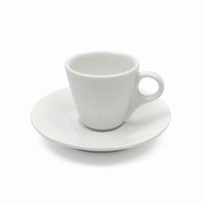 Maxwell and Williams Basics Conical Demi Cup and Saucer, 2-Ounce, White