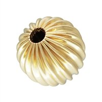 Gold Filled 6.0mm Corrugated Round Bead. Sold as - 8 Pieces Per Pack - -