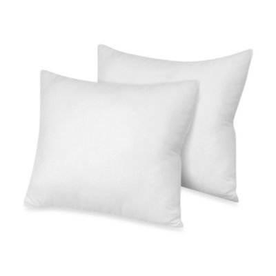 Lavish Linens Indoor/Outdoor Euro Pillows 28x28 Set of 2 Square Pillow Insert for Decorative Bed Pillow Shams & Cushion Covers ()
