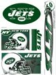 Nfl New York Jets White Green Window Clings Fan Zone Decal Stickers