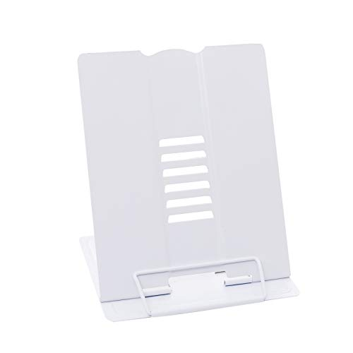 Elonglin Metal Book Stand Cookbook Holder Adjustable Reading Rest Metal Reading Rest Holder Anti-Slip Adjustable Desktop…