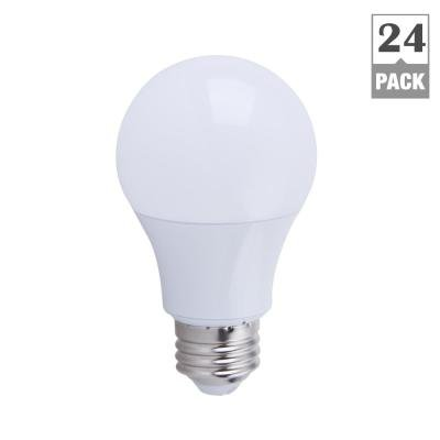 EcoSmart 60W Equivalent Soft White A19 Non Dimmable LED Light Bulb (24-Pack)