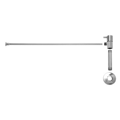 Lever Handle Toilet Angle Supply Kit with Nipple Finish: Polished Chrome ()
