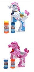 LilPals WHITE and PINK BUBBLE GUN SHOOTER – PAT THE PONY WITH LIGHT, SOUND and BUBBLE SOLUTION INCLUDED FOR KIDS 3 YEARS OLD AND UP