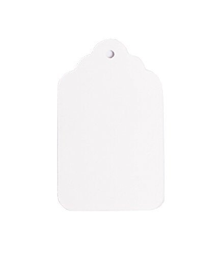 NAHANCO 8NS Unstrung-1-3/4 x 2-11/16'' Unstrung All Purpose Merchandise Tags-White 1000/Carton (Pack of 1000)