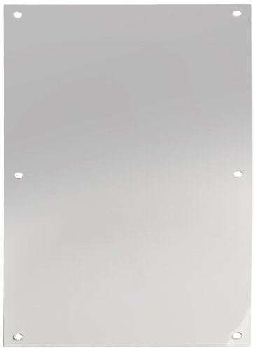 Rockwood 70F.32 Stainless Steel Standard Push Plate, Four Beveled Edges, 16