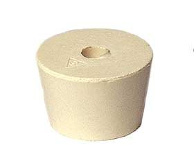 Size #7.5 Rubber Stopper: Tan / Hole For Hobby Ii Air-Lock