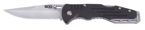 "SOG Salute Folding Knife FF10-CP - Bead Blasted 3.625"" Blade, G10 Handle, Stainless Steel Liners"