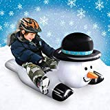 Fun Snow Sledding Snow Tube Inflatable Christmas Holiday Blow Up Sled (Snowman)
