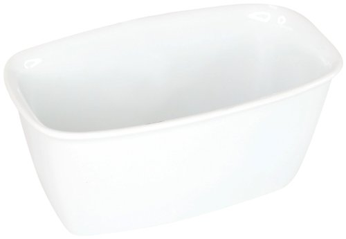 - Housewares International 18-Ounce Porcelain Bakeware Blue Harbor Rectangle Baker/Ramekin, Super White