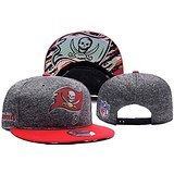 Tampa Bay Buccaneers NFL Biggest Fan Redux Team Logo Grey Adjustable Hat With Pom