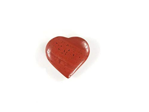 1 Piece - SE7EN CHAKRA Red Jasper Natural Carved Heart Stone