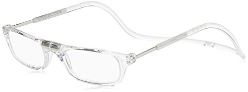 CliC Adjustable Front Connect Reader, 1.75 Strength, Clear Frame (Magnetic Eyeglass Frame)