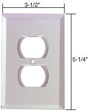 (C.R. LAURENCE GMP2C CRL Clear Duplex Plug Glass Mirror Plate by C.R. Laurence)