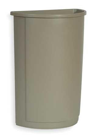 Rubbermaid Untouchable Container - Half-Round Base - 21-Gallon Capacity - Beige - Beige - 21