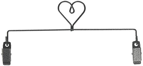 Ackfeld Manufacturing 35672 8in Heart Clip Holder Charcoal Hanger