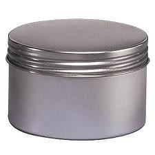 - 8 Oz Seamless Deep Body Tin with Screw on Lids - Set of 4