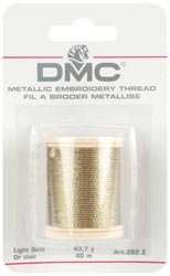 Bulk Buy: DMC Metallic Embroidery Thread 43.7 yards Light Go